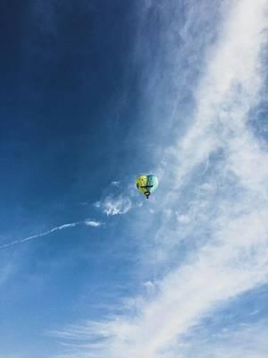 Photograph - Lovebirds Hot Air Balloon by Krysten Elaine Brown
