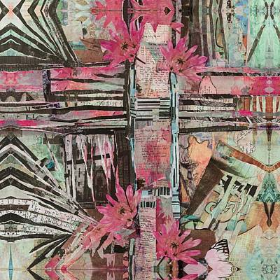 Mixed Media - Lover's Cross by Ingrid Croce