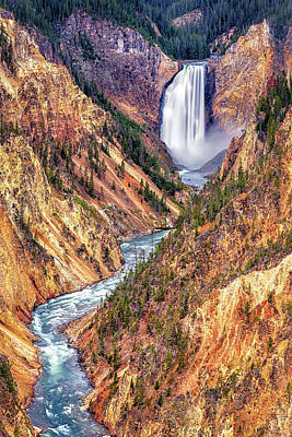 The Beach House - Lower Falls of the Yellowstone by Stephen Stookey