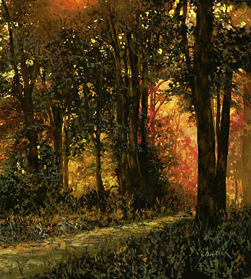 Achieving - Luci Gialle Nel Bosco by Guido Borelli