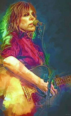 Mixed Media Royalty Free Images - Lucinda Williams Singer Songwriter Royalty-Free Image by Mal Bray
