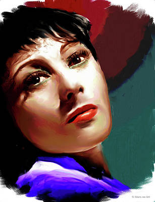 Pop Art Rights Managed Images - Luise Rainer Royalty-Free Image by Stars on Art