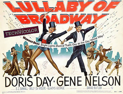 Mixed Media Royalty Free Images - Lullaby of Broadway, with Doris Day, 1951 Royalty-Free Image by Stars on Art