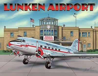 Digital Art - Lunken Airport by Barry Munden