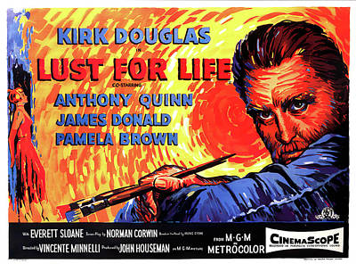 Mixed Media Royalty Free Images - Lust for Life, with Kirk Douglas, 1956 Royalty-Free Image by Stars on Art