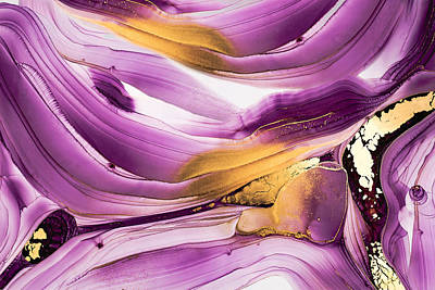 Royalty-Free and Rights-Managed Images - Luxury marble with swirls and glowing gold and glitter by Julien
