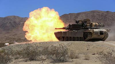 Going Green - M 1 Abrams Tank Firing by L Brown