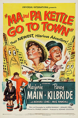 Bringing The Outdoors In - Ma and Pa Kettle Go To Town - 1950 by Stars on Art