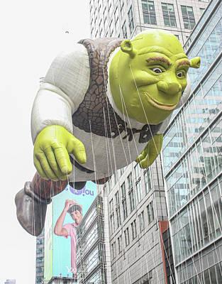 Monochrome Landscapes - Macys Parade Shrek Balloon by Mark Chandler