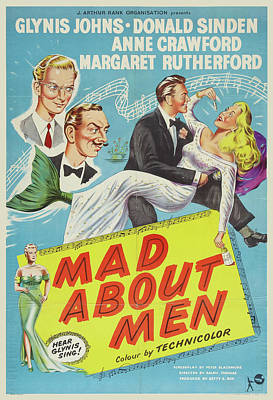 Royalty-Free and Rights-Managed Images - Mad About Men - 1954 by Stars on Art