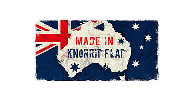 Typographic World Rights Managed Images - Made in Knorrit Flat, Australia Royalty-Free Image by TintoDesigns