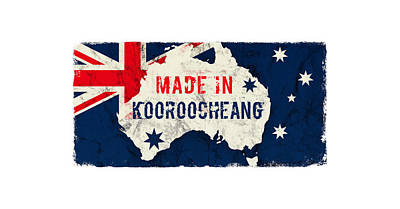 Typographic World Rights Managed Images - Made in Kooroocheang, Australia Royalty-Free Image by TintoDesigns