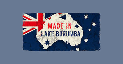Typographic World Rights Managed Images - Made in Lake Borumba, Australia Royalty-Free Image by TintoDesigns