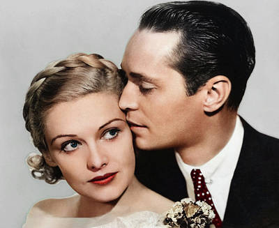 Royalty-Free and Rights-Managed Images - Madeleine Carroll and Franchot Tone - 1934 by Stars on Art