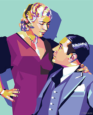 Royalty-Free and Rights-Managed Images - Mae West and George Raft by Stars on Art