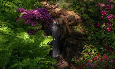 Impressionist Landscapes - Magic Corner of Japanese Garden 1 by Jenny Rainbow