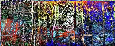 Fantasy Royalty-Free and Rights-Managed Images - Magic Forest in Tiles by Daniel Janda