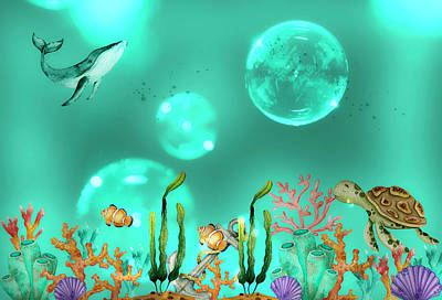 Outdoor Graphic Tees - Magical Moments On The Secret Coral Reef by Johanna Hurmerinta