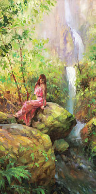 Moody Trees - Magical Sanctuary by Steve Henderson