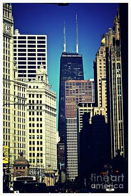Frank J Casella Royalty-Free and Rights-Managed Images - Magnificent Mile Chicago by Frank J Casella