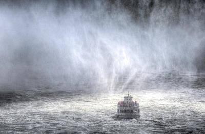 Nighttime Street Photography - Maid Of The Mist Boat by David Pyatt
