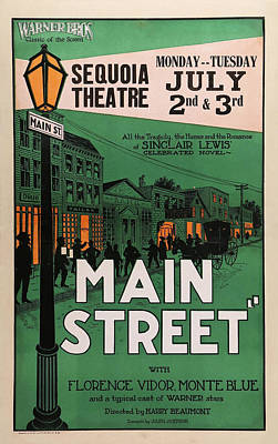 Royalty-Free and Rights-Managed Images - Main Street movie poster 1923 by Stars on Art
