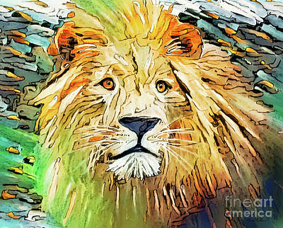 Just Desserts Rights Managed Images - Majestic Lion Royalty-Free Image by Tina LeCour