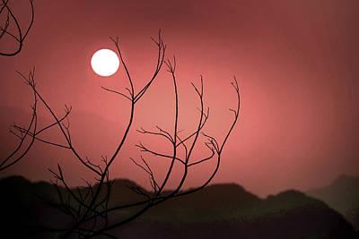 Surrealism Royalty Free Images - Majestic Sunset 11 -  - Surreal Art by Ahmet Asar Royalty-Free Image by Celestial Images