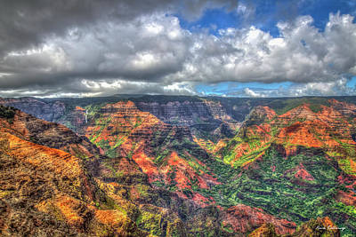 Rights Managed Images - Majestic Waimea Canyon 7 The Grand Canyon of the Pacific Kauai Landscape Art Royalty-Free Image by Reid Callaway