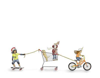 Drawing - Making Mischief by Kim W Nolan