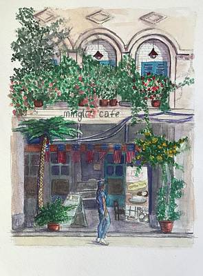 Movies Star Paintings - Malay Cafe by Louis Ebarb