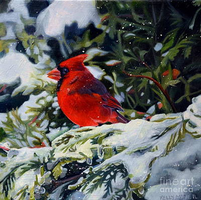 Painting - Male Cardinal by Kelly McNeil