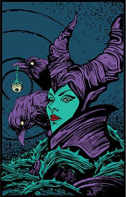 Digital Art - Maleficent Fan Poster by Lance Reis