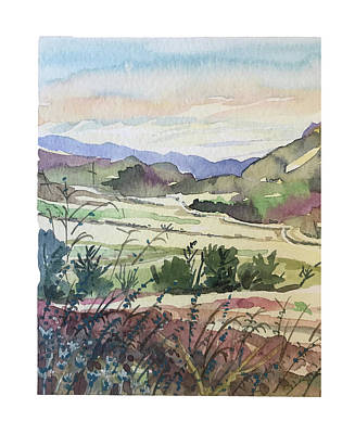 From The Kitchen - Malibu Creek late Spring by Luisa Millicent