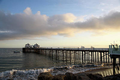 Lucille Ball - Malibu Pier In Golden Afternoon Sunlight by Mark Stout