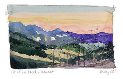 From The Kitchen - Malibu Sunset by Luisa Millicent