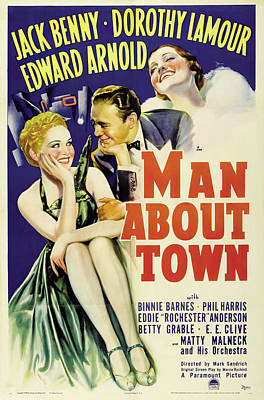 Royalty-Free and Rights-Managed Images - Man About Town, with Jack Benny and Dorothy Lamour, 1939 by Stars on Art