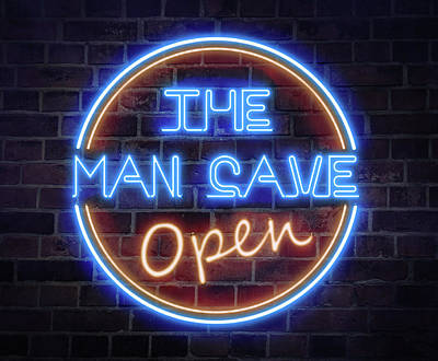Pittsburgh According To Ron Magnes - Man Cave Neon Sign by Dale Kincaid