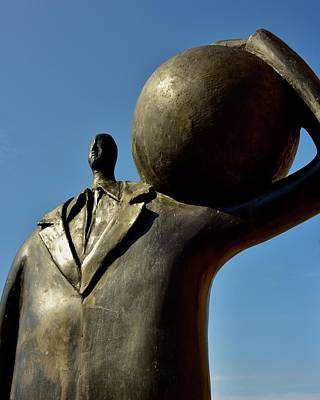 Old Masters Royalty Free Images - Man Standing With Ball Royalty-Free Image by Neil R Finlay