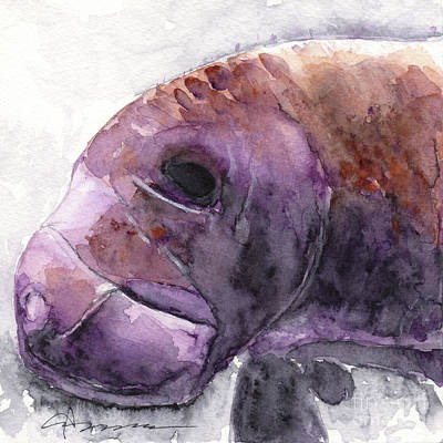 Painting - Manatee by Claudia Hafner