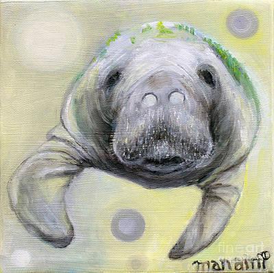 Painting - Manatee by Manami Lingerfelt