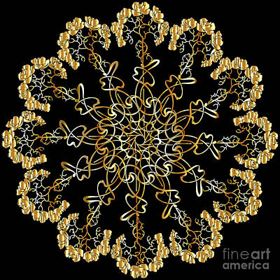 Abstract Shapes Janice Austin Royalty Free Images - Mandala Decorative Ornamental Floral  Royalty-Free Image by Heinz G Mielke