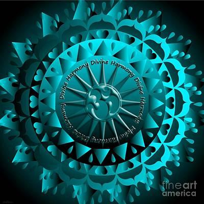 Mixed Media Royalty Free Images - Mandala Divine Harmony Royalty-Free Image by Sarah Niebank