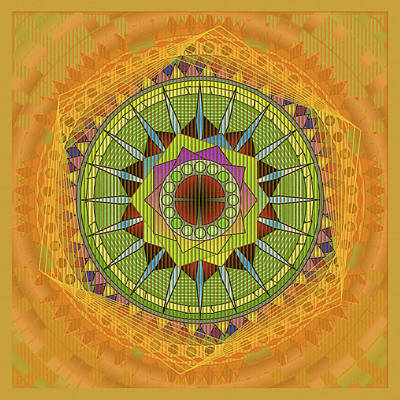 Mixed Media Royalty Free Images - Mandala Dream Royalty-Free Image by Mario Carini