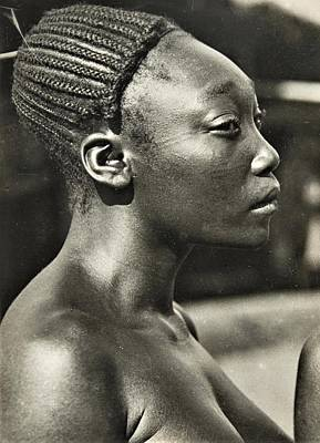 Caravaggio - Mangbetu woman by Roberto Prusso - Reproduction