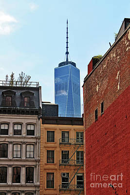 Photograph - Manhattan Apartment Buildings and One World Trade Center by Nishanth Gopinathan