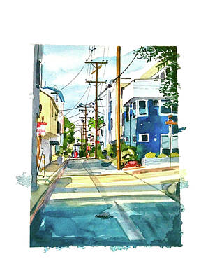 Tool Paintings - Manhattan Beach Sunny Day by Luisa Millicent