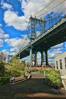 Studio Grafika Vintage Posters - Manhattan Bridge at Washington Street by Allen Beatty