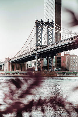 Surrealism Royalty-Free and Rights-Managed Images - Manhattan Bridge - Surreal Art by Ahmet Asar by Celestial Images