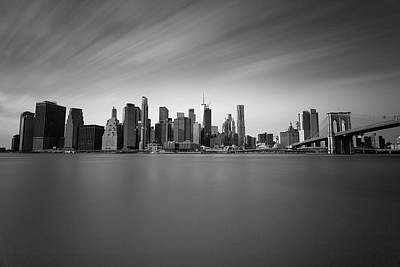 Landscape Photos Chad Dutson - Manhattan New York Skyline by David Pyatt